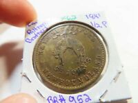 X62 CANADA NEWFOUNDLAND 1841 R.&I.S. RUTHERFORD 1/2 PENNY TO
