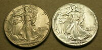 1936 AND 1941 WALKING LIBERTY HALF DOLLARS