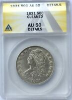 1831 BUST HALF DOLLAR  NICE  ANACS AU50 DETAILS  LUSTROUS  EXAMPLE