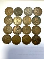 LOT OF 16 CANADIAN LARGE CENTS 1899 1920
