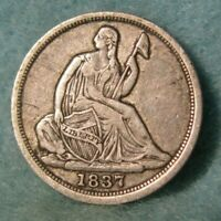 1837 SEATED LIBERTY SILVER HALF DIME HIGH GRADE UNITED STATE