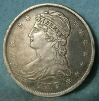 1837 CAPPED BUST SILVER HALF DOLLAR SHARP HIGH GRADE ROTATED