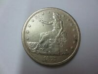 1877 S UNITED STATES TRADE DOLLAR AU  DETAILS  CLEANED/HAIRL