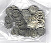 US $5.00 FACE SILVER MERCURY DIMES   DATED 1964 OR BEFORE
