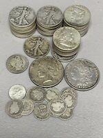 $24.05 FACE VALUE FV US 90  SILVER COINS JUNK LOT PRE 1965 2