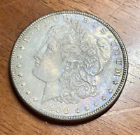 1900-P MORGAN DOLLAR US SILVER COIN $1 NATURAL TONING