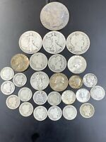 $5.70 FACE VALUE FV US 90  SILVER COINS JUNK LOT PRE 1965 25