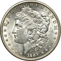 1889-S MORGAN DOLLAR, ABOUT UNCIRCULATED, S$1 C00052331