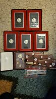 LOT OF COINS   1984 PRESTIGE   PROOF 5 1971/72 SILVER DOLLAR