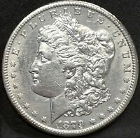 1879 CC MORGAN SILVER DOLLAR AU DETAILS KEY DATE  CARSON CITY MINT COIN