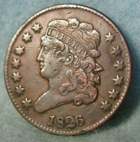1826 CLASSIC HEAD HALF CENT BETTER GRADE UNITED STATES TYPE COIN