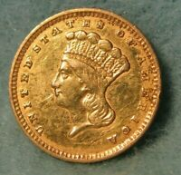 1856 INDIAN PRINCESS $1 ONE DOLLAR UNITED STATES GOLD COIN B