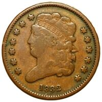1832 CLASSIC HEAD HALF CENT NICE DEFINITION HIGH END 1/2C CO