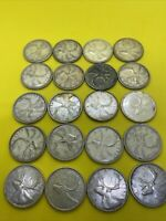 LOT OF 20 CANADIAN SILVER QUARTERS AS PICTURED