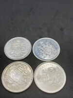 LOT OF 4 CANADIAN SILVER 50 CENT COINS 1958 60 65 65