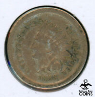 1863 UNITED STATES INDIAN HEAD CENT ERROR COIN BROAD STRUCK