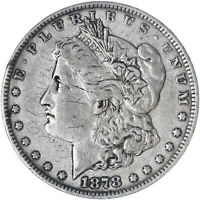 1878 MORGAN SILVER DOLLAR 7 TAIL FEATHERS REVERSE OF 78 SCRATCHES SEE PICS F268