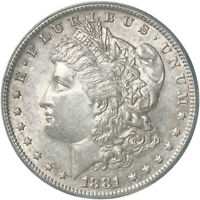 1881 S MORGAN SILVER DOLLAR ABOUT UNCIRCULATED AU