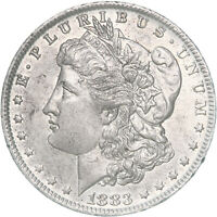 1883 O MORGAN SILVER DOLLAR ABOUT UNCIRCULATED AU