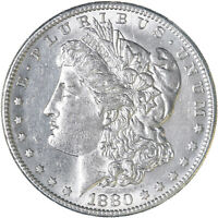 1880 S MORGAN SILVER DOLLAR ABOUT UNCIRCULATED AU