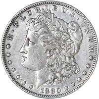 1880 MORGAN SILVER DOLLAR EXTRA FINE EXTRA FINE  CLEANED SEE PICS F565