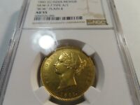 F1 INDIA BRITISH 1841. C  GOLD MOHUR S&W 3.7 TYPE A/1