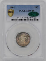 1801 DRAPED BUST 10C PCGS MINT STATE 64