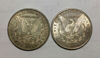 1878S & 1897S MORGAN SILVER DOLLARS PLEASING GRADE LOT OF 2 LUSTROUS COINS
