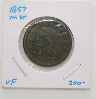 1857 SMALL DATE MATRON HEAD | LARGE CENT