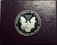 1987 US  SILVER PROOF EAGLE ORIGINAL GOVERNMENT  PACKAGING AND  BOX