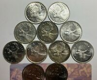 1937 38 47 50 53SD 53LD 55 60 64 1991 96 99 CANADA 25 CENT GREAT COLLECTOR LOT