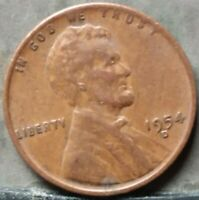 1954 D LINCOLN WHEAT CENT,  FREE & PROMPT SHIPPING