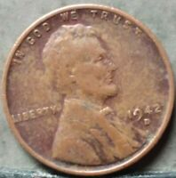 1942 D LINCOLN WHEAT CENT,  FREE & PROMPT SHIPPING