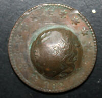 1821 US LARGE CENT   FABULOUS CIVIL WAR TRENCH ART OR HOBO