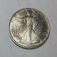 1992 SILVER EAGLE 1 OZ   BETTER DATE PRETTY TONING