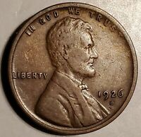 1926-D LINCOLN CENT IN NEARLY EF - BEAUTIFUL SURFACES & COLOR