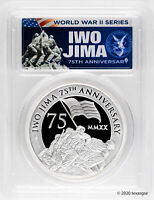 2020 P $2 IWO JIMA 75TH ANN. 2OZ SILVER PIEDFORT PROOF COIN PCGS PR70   FDI
