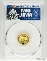 2020 P $15 IWO JIMA 75TH ANNIVERSARY 1/10OZ GOLD COIN PCGS MS70 FIRST DAY ISSUE