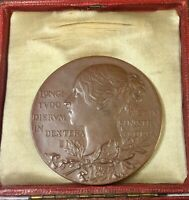 1837 1897 VICTORIA BOXED 60TH ANNIVERSARY BRONZE MEDAL ROYAL MINT GT BRITAIN