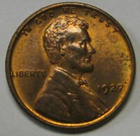 1927 LINCOLN CENT GRADING CH BU R/B  ORIGINAL COIN PRICED RIGHT FREE S&H Q12