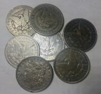 1880   1902O MORGAN SILVER DOLLARS LOT OF 7 CULL COINS ALL WITH ISSUES