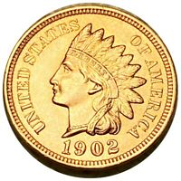 1902 INDIAN HEAD PENNY ABSOLUTELY STUNNING 1C COPPER COLLECT