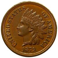 1879 INDIAN HEAD PENNY ABSOLUTELY GORGEOUS DETAILS 1C COPPER