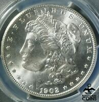1902-S UNITED STATES SILVER 90 MORGAN DOLLAR COIN PCGS MINT STATE 66 GEM UNCIRCULATED