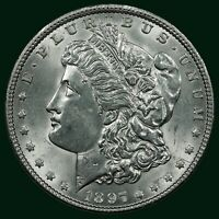 1897-P MORGAN SILVER DOLLAR CHOICE BU UNCIRCULATED