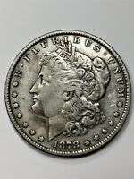1878 MORGAN DOLLAR 7 TAIL FEATHERS   REV OF 79 SILVER $1 XF