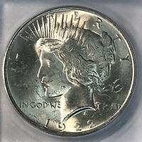 1922 SILVER PEACE DOLLAR ICG MINT STATE 65