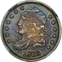 1833 5C NGC VF30 LM-7 CAPPED BUST  BEAUTIFUL COLOR & LOOKS EXTRA FINE