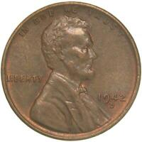 1942 D LINCOLN WHEAT CENT ABOUT UNCIRCULATED PENNY AU