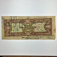 ND 1944 PHILIPPINES 100 PESOS JAPANESE OCCUPATION 1941 1945 WW2